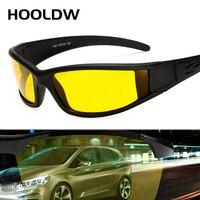 HOOLDW Polarisierte Sonnenbrille Männer Nachtsicht Gläser Marke Designer Frauen Gelb Nacht Fahren Anti-glare Brille sonnenbrille