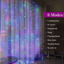 3M*3M 300LED USB powered LED Curtain Fairy String Light Cooper wire Remote Controlled Wedding Party Home Garden Wall tree decor cheap Ritesdepot Christmas Plastic CR2032 LED Bulbs None Wedge 300cm 6-10m White Blue Multi 200 Holiday 4 colors optional