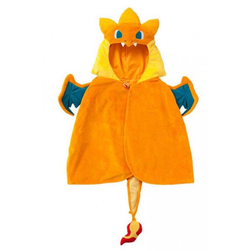 Costume da drago mantello con cappello Dragon Cape Anime costumi Cosplay dinosauro piccolo diavolo drago vestito operato per bambini