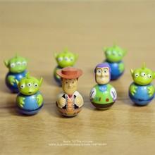 Disney juguete historia 4 Woody Buzz Lightyear vaso 3,5 cm versión Q figuras de acción mini muñecas de juguete para niños modelo para el regalo de los niños