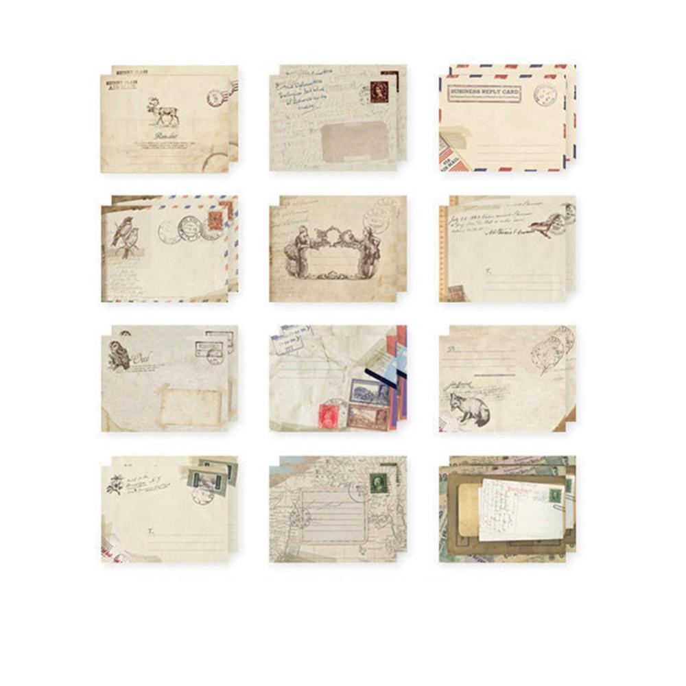 12 Pcs/lot 12 Designs Paper Envelope Cute Mini Envelopes Vintage European Style For Card Scrapbooking Gift