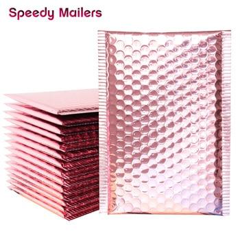 10pcs 15x20+4cm Rose Gold Bubble Envelop/Rose Gold Foil Bubble Mailer for Gift Packaging & Wedding Favor Bag&Mailing Envelopes
