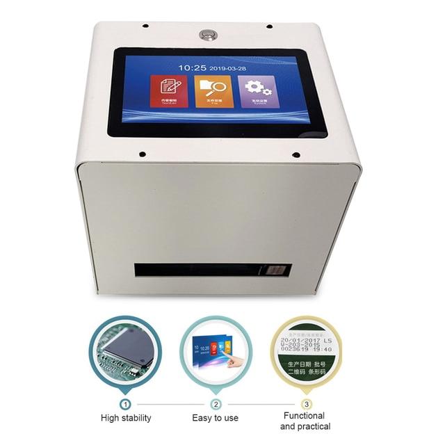 Static Intelligent Automatic Inkjet Printer 7 Color Touch Screen 600DPI Intelligent USB QR Code Inkjet Label Printer