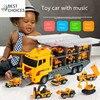 גדול משאית & 6PCS מיני סגסוגת Diecast רכב דגם 1:64 בקנה מידה צעצועי כלי רכב Carrier משאית הנדסת רכב צעצועים לילדים בנים