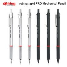 Rotring Rapid Pro ดินสอโลหะ 0.5/0.7/2.0 มม.สีดำ/เงินดินสออัตโนมัติ 1 ชิ้น