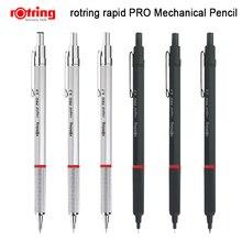 Rotring Rapid Pro 금속 기계식 연필 0.5/0.7/2.0mm 검정/은색 자동 연필 1 개