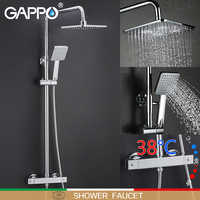 GAPPO shower system bathroom thermostat faucet shower faucet mixer tap waterfall wall mount thermostatic shower mixer