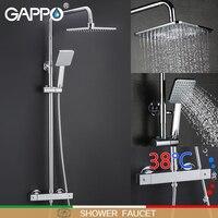 Nuevo Sistema de ducha GAPPO grifo termostato para baño grifo de ducha grifo mezclador de cascada mezclador
