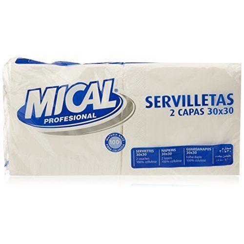 Mical - Servilletas, Color Blanco - 2 Capas 30x30 - 2 X 100 Unidades