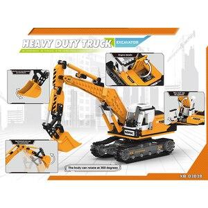 Image 2 - Offroad Technic XingBao nowy 03038 koparka budowlana zestaw pojazdów klocki klocki zabawki chłopcy rysunek świąteczne prezenty