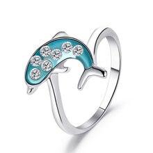 Корейская версия свежей пары голубое кольцо с Китом женское