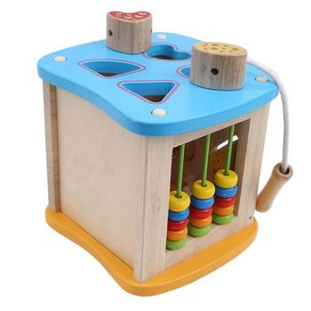 Montessori edukacyjne drewniane zabawki dla dzieci dzieci zajęty deska matematyka wędkarstwo przedszkole drewniane zabawki Montessori Count geometryczny zestaw tanie i dobre opinie Chinget Drewna Do Not Eat 8 ~ 13 Lat Zawodów Transport Baby Toy