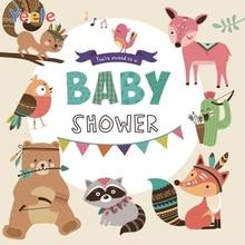 Yeele Newborn Baby Shower Party Cartoon Photography Backdrops Animal Custom Vinyl Photographic Background For Photo Studio Props 7x5ft purple unicorn newborn baby shower custom photo studio backdrops background polyester 220x150cm