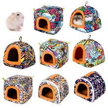 Bed-House Cage-Bed Hamster Hedgehog Guinea-Pig Home Pets-Supplies Nest Cave Small Animal