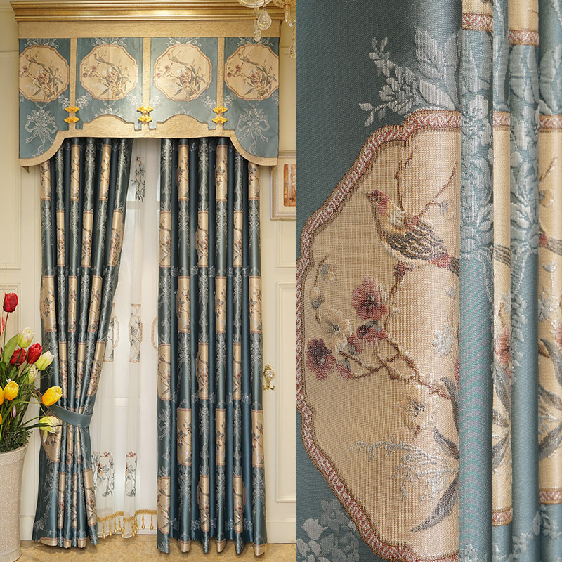 check MRP of blue curtains with yellow walls