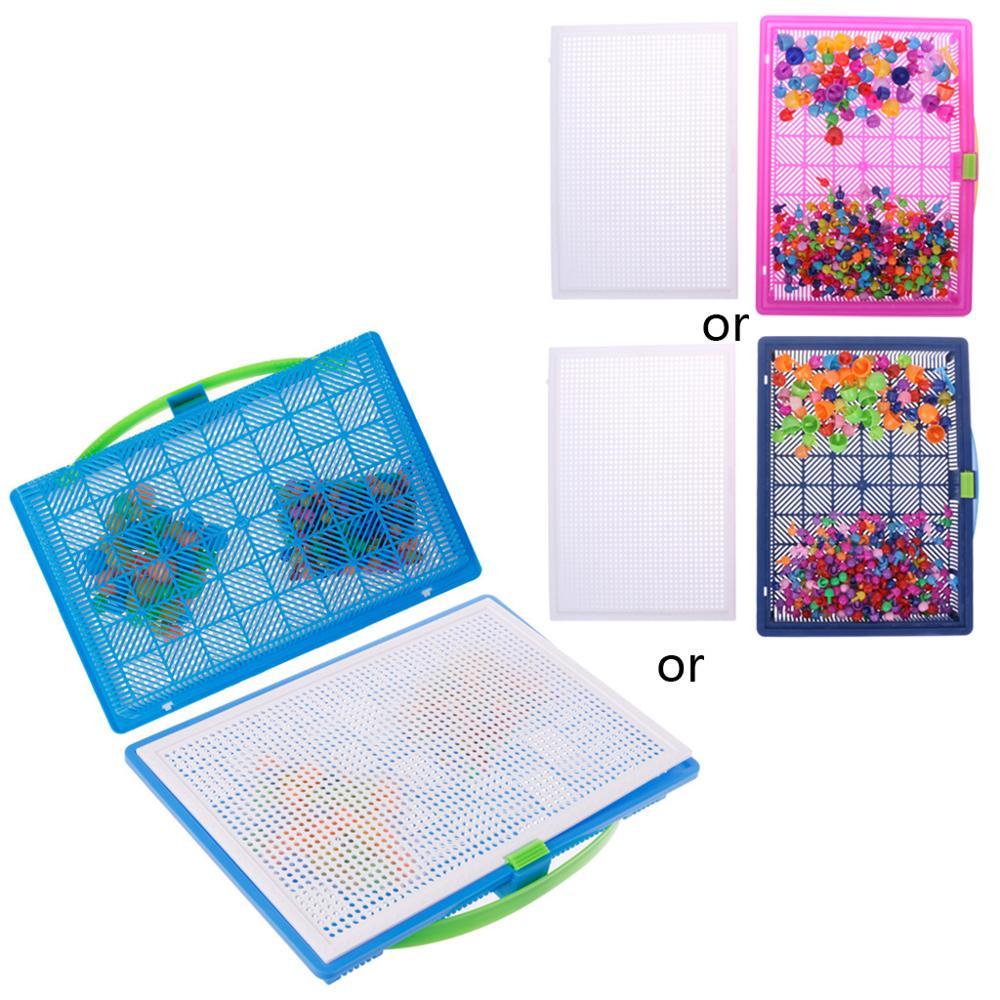 Children Mushroom Nails Peg Puzzle Jigsaw Puzzle Creative Pegboard