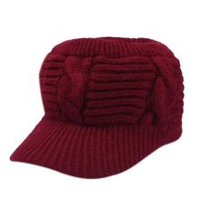 New Empty Top Sports Ponytail Knitted Hat For Women Lady Skull Beanie Warm Hat Lady Girl Winter Ski Caps(China)