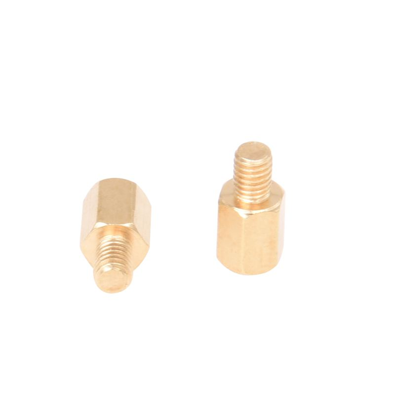 20 Pcs PC PCB Motherboard Brass Standoff Hexagonal Spacer M3 6+4mm