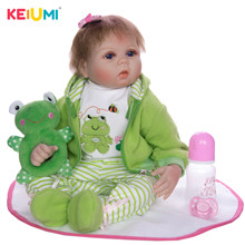 22 Inch Lifelike Reborn Dolls Silicone Soft Vinyl Cute Babies Toy Doll Cosplay Frog 55 cm Kids Chirstmas Gift Menina Brinquedo(China)