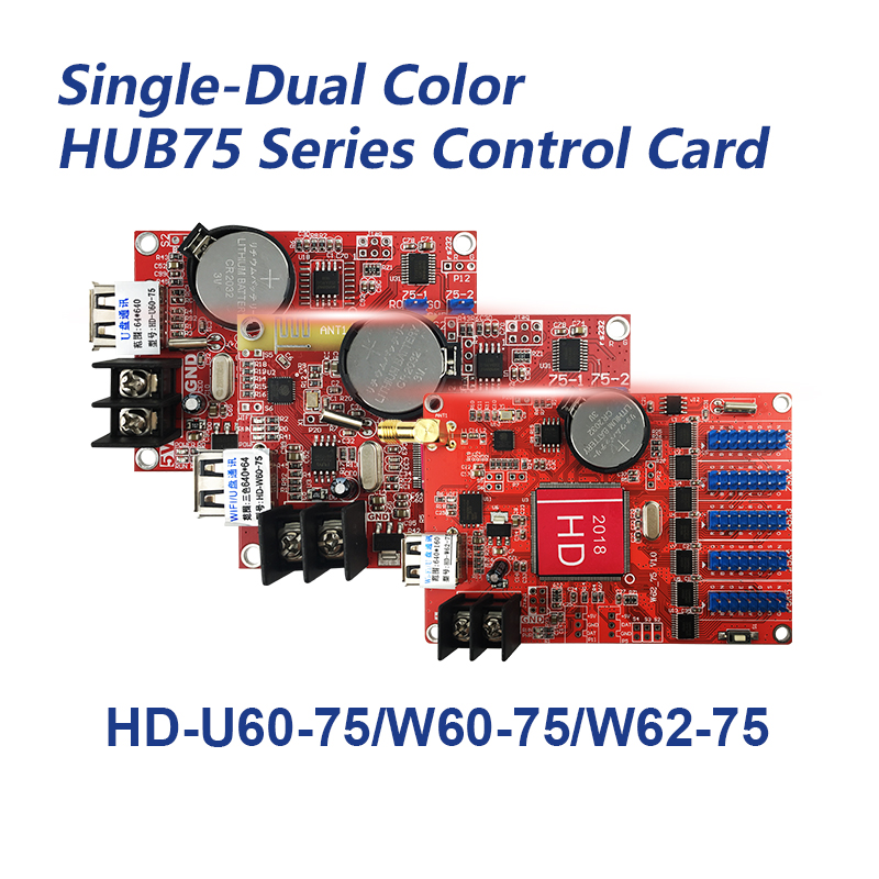 Image 2 - HD W62 75 Hub75B Ports Small Graphic LED Controller Smart Setting Work for P4 P5 P10 Full Color LED ModuleLED Displays   -