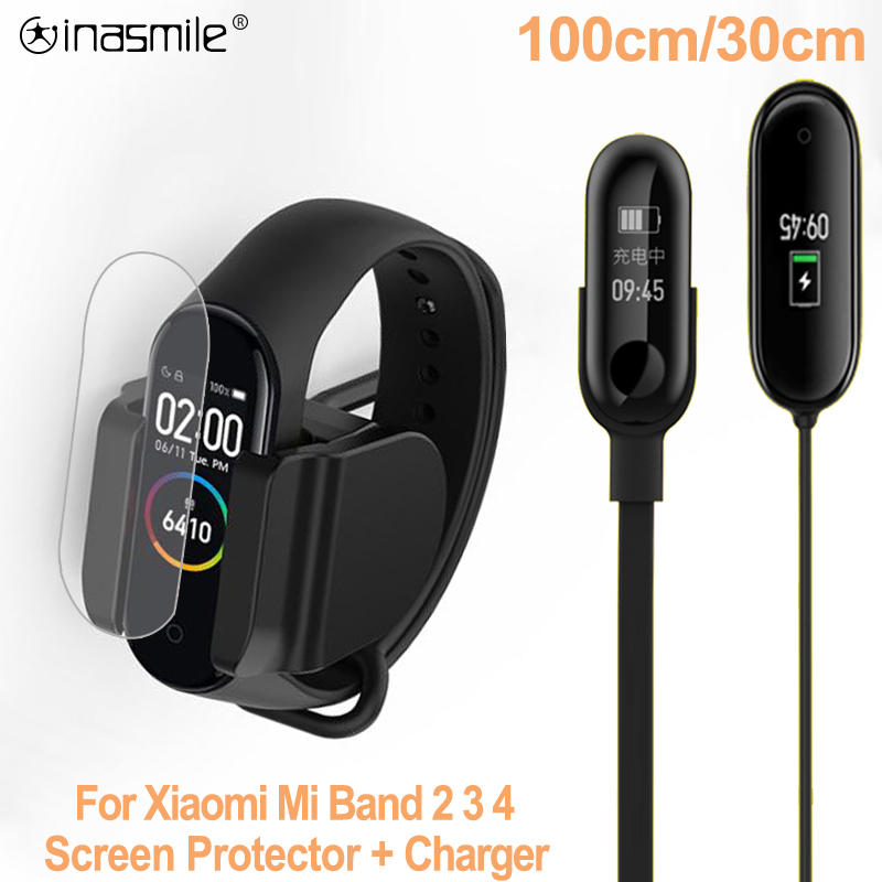 <font><b>Charger</b></font> For <font><b>Xiaomi</b></font> <font><b>Mi</b></font> <font><b>Band</b></font> <font><b>2</b></font> 3 4 <font><b>Charger</b></font> <font><b>Cable</b></font> Data Cradle Dock Charging <font><b>Cable</b></font> For <font><b>Xiaomi</b></font> MiBand 4 USB <font><b>Charger</b></font> Screen Protector image