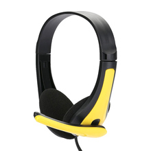Wired Headphone Earphone With Microphone 3.5mm For Smart Phone Laptop PC MP3 Audio Over The Ear Headset HD Stereo Super Bass
