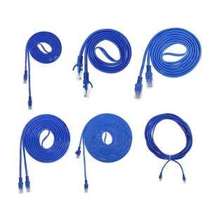 Network Cable Connector RJ45 CAT5 Cord Blue 8pin Wire-Line 5m/10m