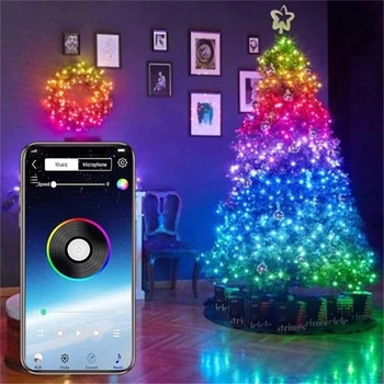 USB LED String Light Bluetooth App Control String Lights Lamp Waterproof Outdoor Fairy Lights For Christmas Tree Decoration image