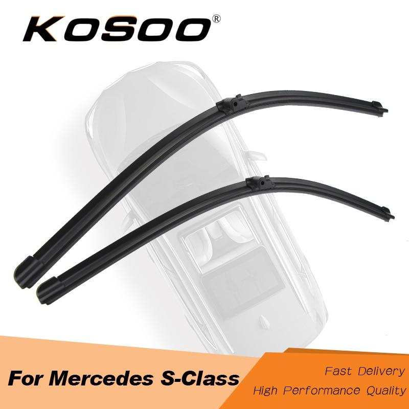 KOSOO لمرسيدس بنز S كلاس W220 W221 S280 S300 S320 S350 S500 S600 نموذج سنة من 2000 إلى 2013 سيارة ماسحة الزجاج الأمامي شفرة