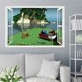 3d dos desenhos animados steve jogo adesivos de parede para crianças quartos mosaico jogo cartazes decoracion hogar moderno adesivos de parede