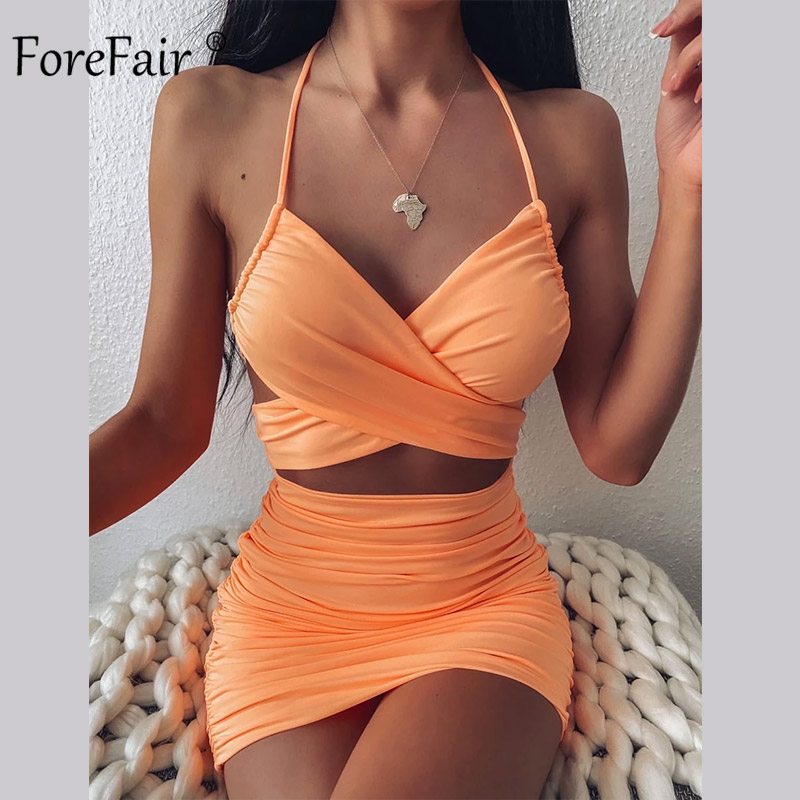 Forefair Sexy Dress Women Party Night Mini Bodycon Backless Hollow Out Summer 2020 New Club Outfits Women Dress Dresses  - AliExpress