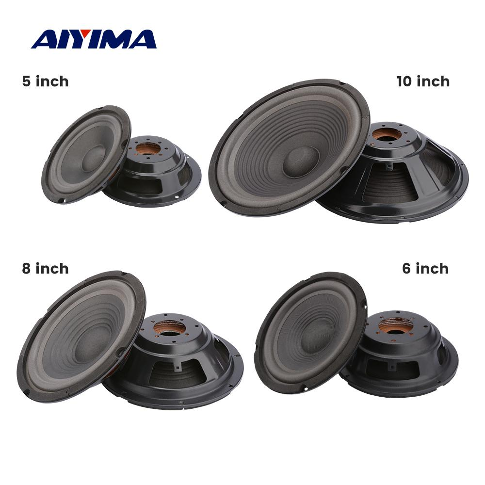 AIYIMA 2Pcs Woofer Speaker Passive Diaphragm Radiator 5 6 8 10 Inch Vibration Membrane DIY Audio Speaker Repair Part Accessories