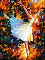 hand painted oil wall ballet dance knife painting Leonid Afremov artist canvas painting reproduction inspirational quotes arts