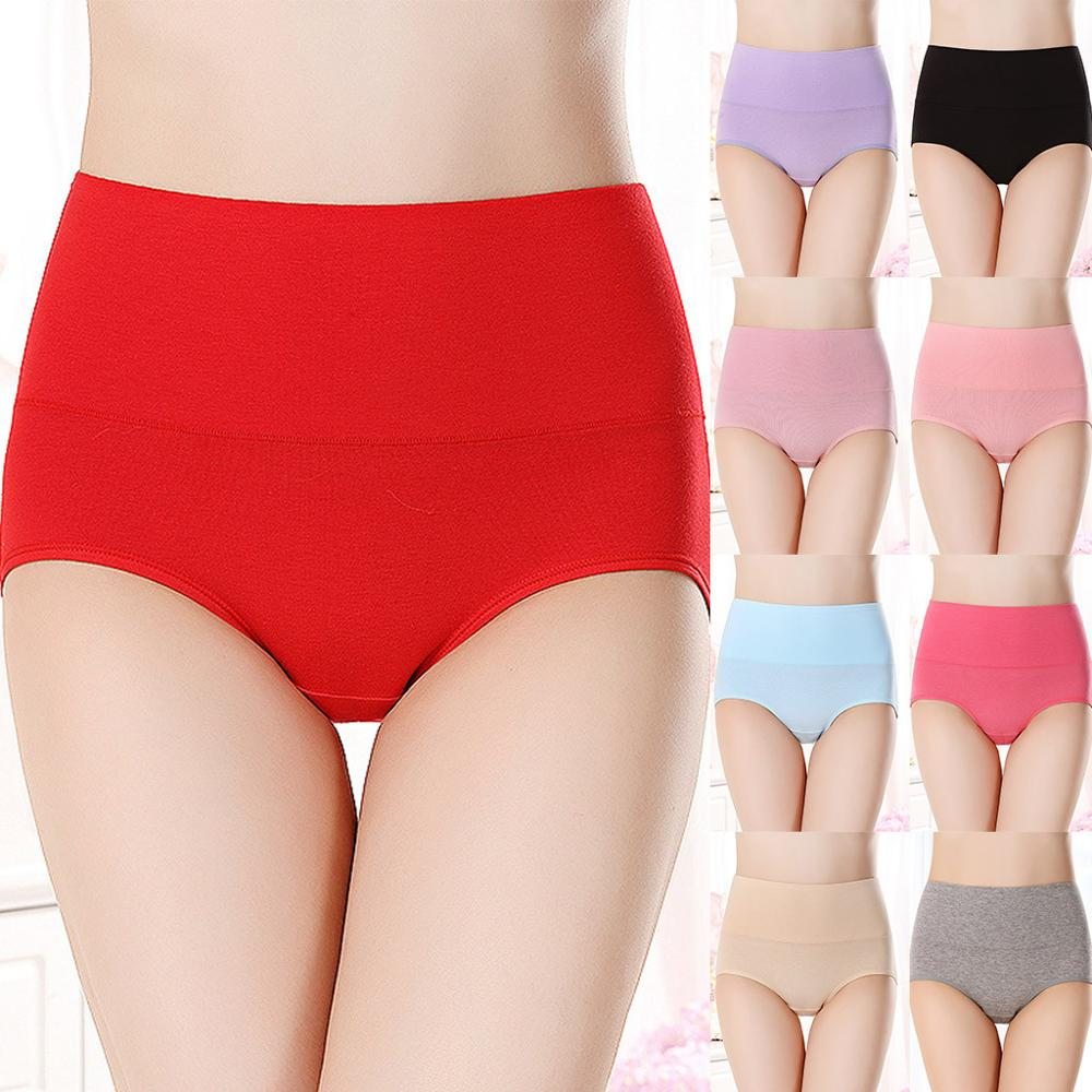 Women's Intimates Underwear thermal High-Rise comfortable Cotton Briefs Seamless Solid 9 Color M/L/XL Size трусы женские хлопок