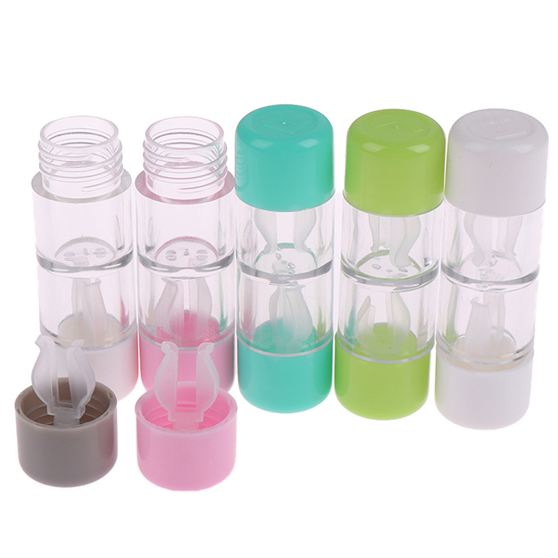 RGP Contact Lens Case For Women TraveL Easy Take Lenses Box Colorful Eyewear Protector Container