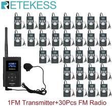 1 fm передатчик ft11 + 30 шт радиоприемник pr13 беспроводная