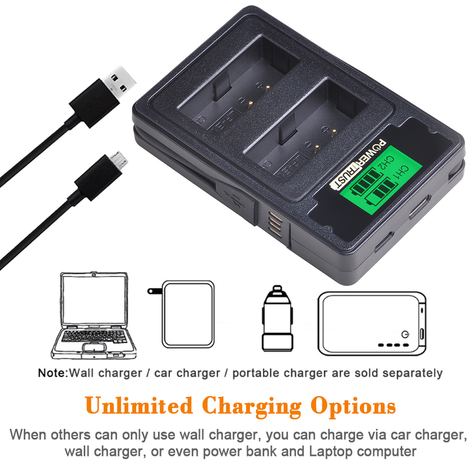 1200D Charger Micro USB for Canon EOS 1100 1300D 1200 LP-E10