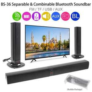 Desktop-Speaker Bluetooth-Microphone Soundbar Surround-Sound Home Theater with Usb-Jack