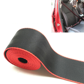 3.6m Car Seat Belt Double Colors Black Red Racing Auto Safety Webbing For M e46 e90 e36 f10 фото