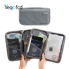 Yeqofcd Passport Bag Cationic Credit Card Package Zipper ID Holders Waterproof Travel Organizer Wallet With Keyboard