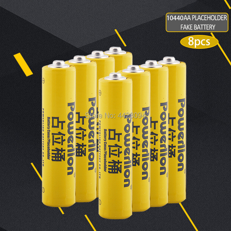 8pcs/lot 10440 li-ion dummy fake battery AAA battery setup dummy cells Placeholder for Lithium iron phosphate battery image