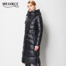 MIEGOFCE 2020 유행 코트 자 켓 여성 두건 된 따뜻한 파 카 바이오 Fluff 파 카 코트 Hight 품질 여성 새 겨울 컬렉션