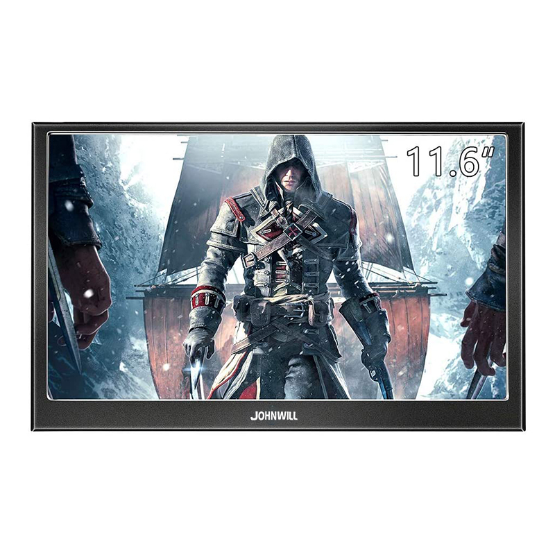 Portable gaming monitor pc <font><b>11.6</b></font> inch LCD Display screen 1080P IPS HD mini VGA HDMI Computer monitor for Raspberry Pi PS4 Laptop image