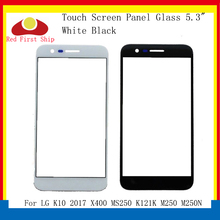 10Pcs/lot Touch Screen For LG K10 2017 X400 MS250 K121K M250 M250N Touch Panel Front Outer K10 2017 LCD Glass Lens смартфон lg k10 2017 m250 gold