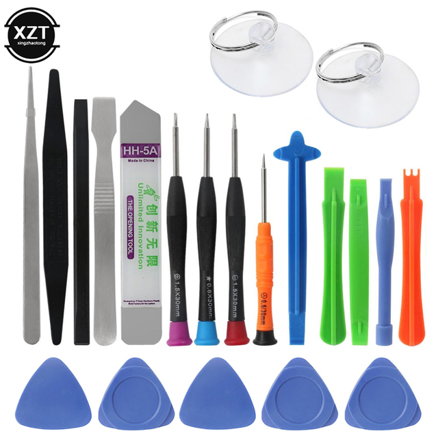 21 in 1 Mobile Phone Repair Tools Kit Spudger Pry Opening Tool Screwdriver Set for iPhone X 8 7 6S 6 Plus Tablets Hand Tools Set 6