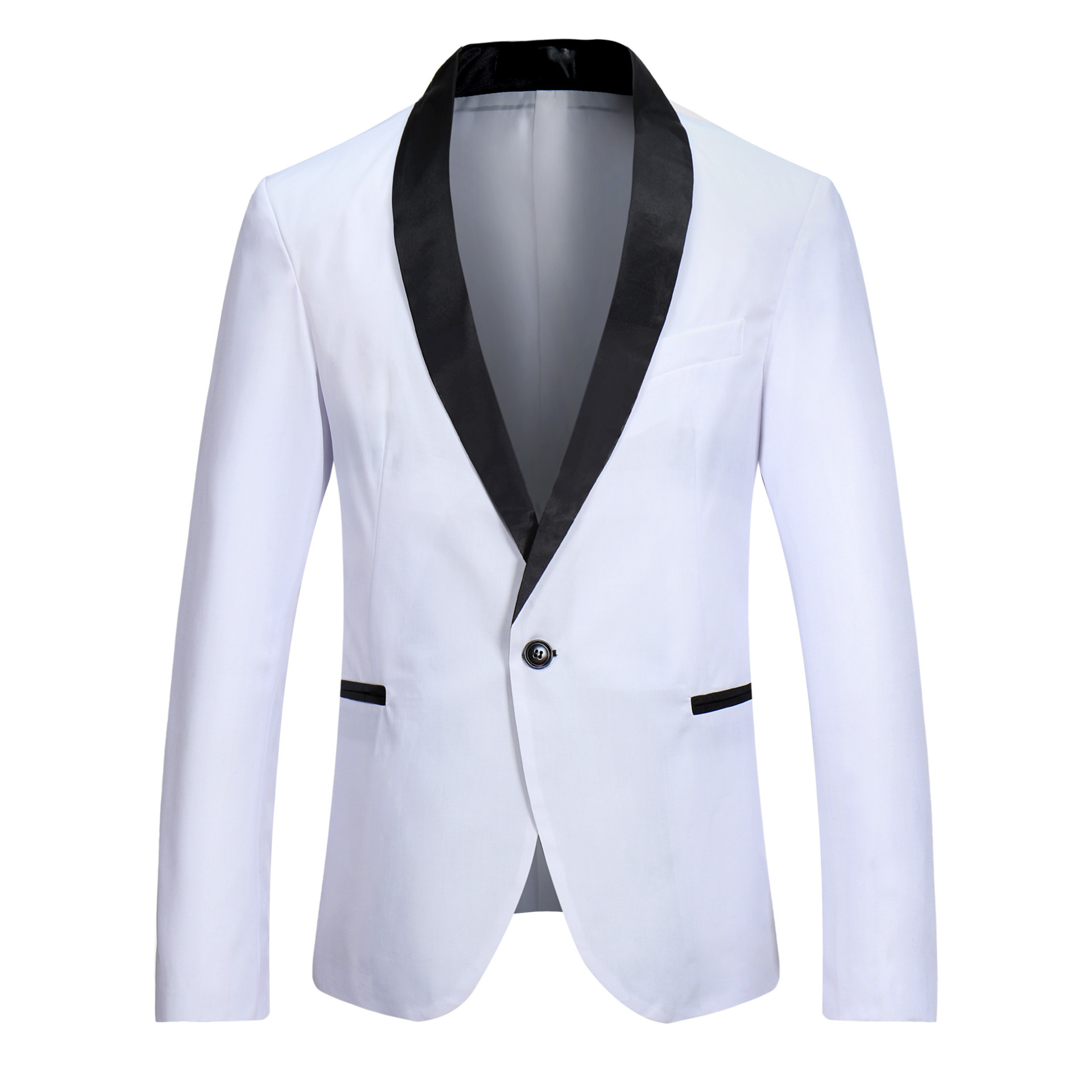 Vogue Of New Fund Of 2019 Men Concise Into Joining Leisure Suit Young Black Led Single Row A Grain Of Buckle Suit