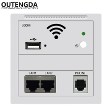 Wifi Wireless POE IN Wall AP for Hotel, access point ap, wireless ap white/champagne