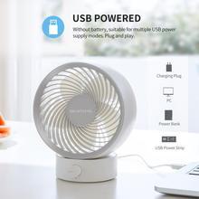 Fan Mini Portable Personal Strong Ce for Office Bedroom Smartdevil-Usb Desk-Fan Small
