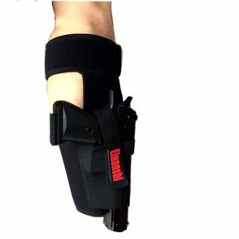 Concealed Carry Ankle Leg Holster For Glock 17 19 22 23 Ruger Lcp Sig 9mm Gun Pistol Tactical Pouch Black Color ELUANSHI 3