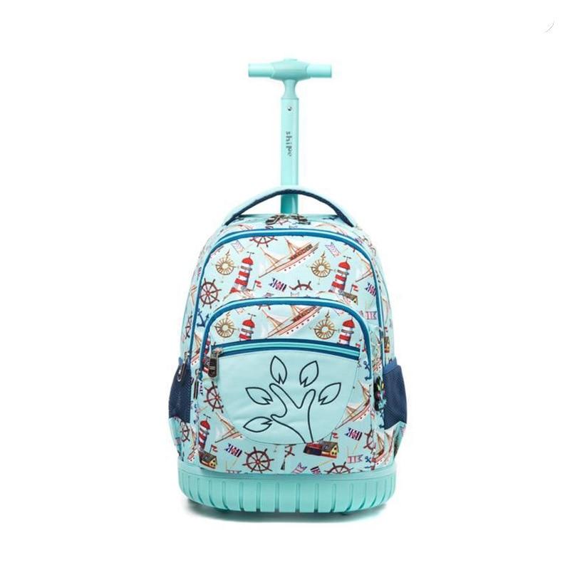 Fashion School Rolling Bag For Boys Girls School Bag On Wheels Children Wheeled Backpack Travel Luggage Backpack Trolley Bags